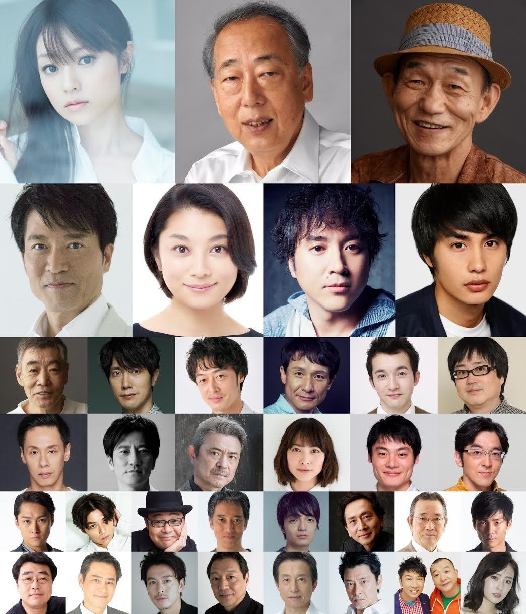 『空飛ぶタイヤ』に出演する37名の俳優陣
