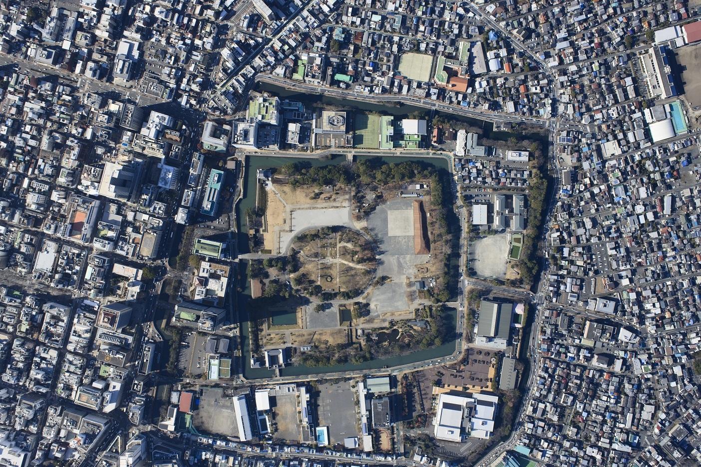 駿府城航空写真