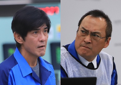佐藤浩市と渡辺謙がそれぞれに険しい表情 東日本大震災直後の福島第一原発をとらえた映画『Fukushima 50』場面写真