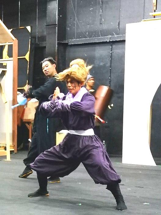 前作ではキテレツな宮本武蔵ロボットを演じた竹下が忍者役に