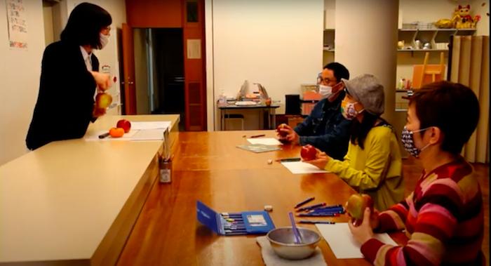 【セタビチャンネルJr.】「こども美術大学 第1話 りんごを描く ~あなたは本当のりんごを知っていますか?」 (YouTubeより)