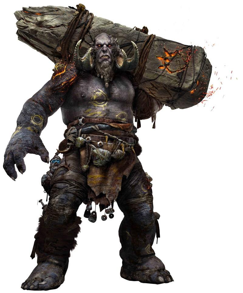 大柄なクレイトスの4倍以上はある体躯を誇る「トロール」。石柱を使って攻撃してくる。