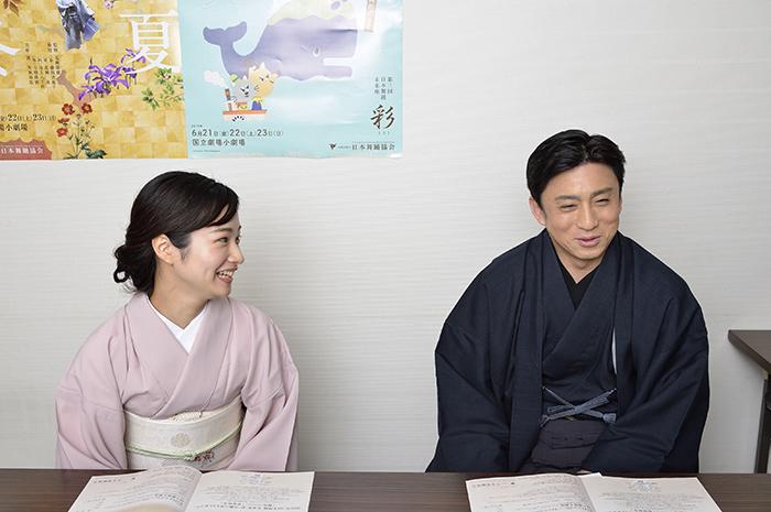 (左から)藤間爽子、松本幸四郎