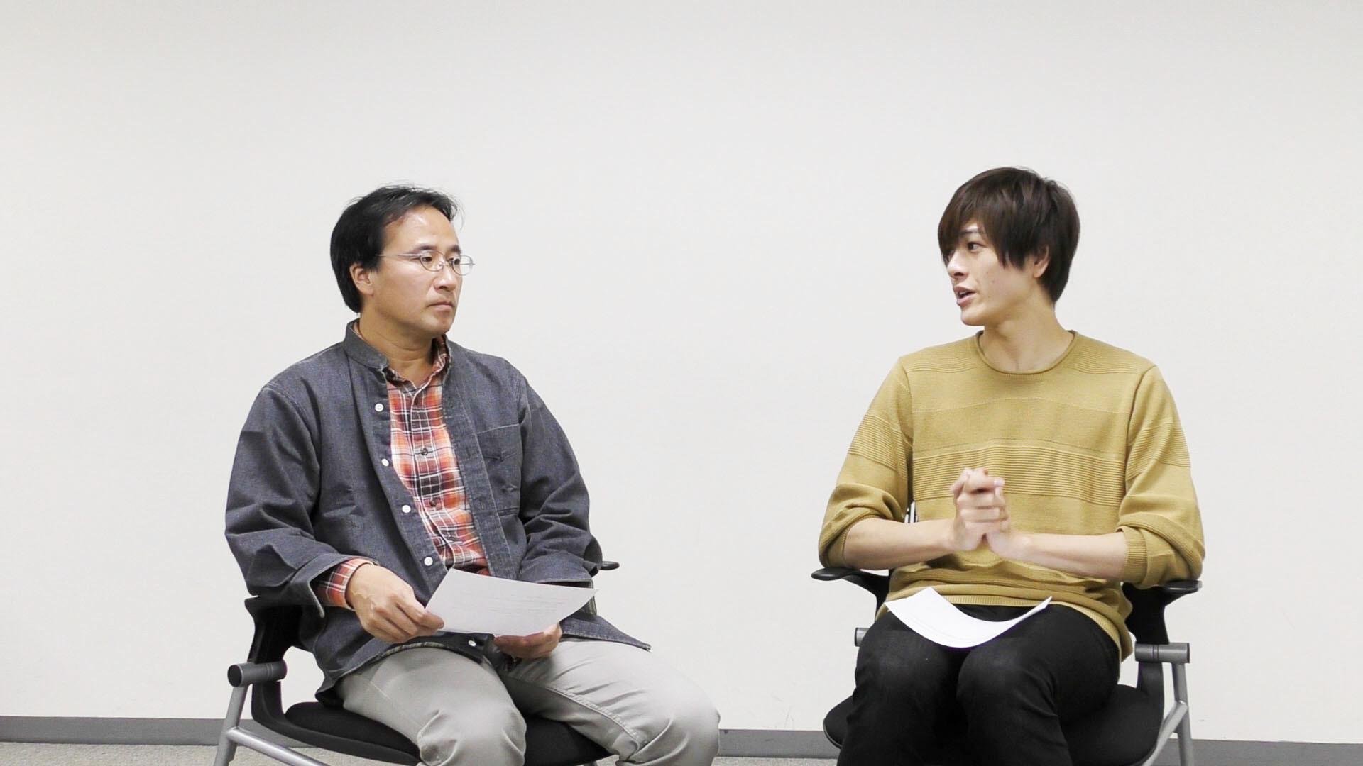 (左から) 大和田悟史(演出家)、 遊馬晃祐(主演)
