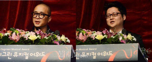 「演出賞」ビョン・チョンジュ(写真左)と「音楽賞」のミン・チャンホン