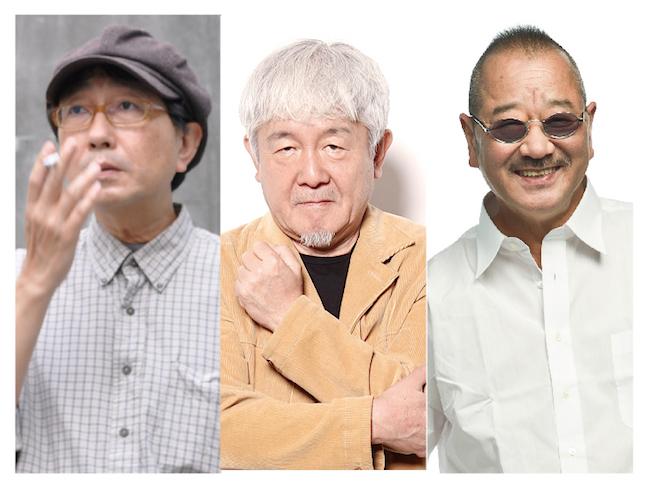 左から、天野天街(脚本・演出)、鈴木慶一(音楽)、流山児祥(企画・芸術監督)