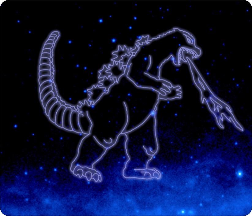 ゴジラ座のイメージ NASA提供 TM&(C)TOHO CO., LTD.