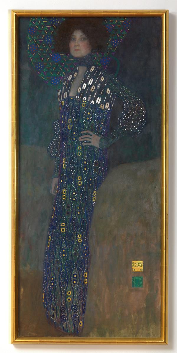 グスタフ・クリムト ≪エミーリエ・フレーゲの肖像≫ 1902 年 ウィーン・ミュージアム蔵 (C)Wien Museum Foto: Peter Kainz