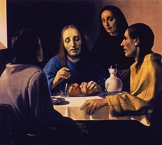 《エマオの食事》ハン・ファン・メーヘレン作  1936年 ボイマンス・ヴァン・ベーニンゲン美術館 出典=ウィキメディア・コモンズ (Wikimedia Commons)