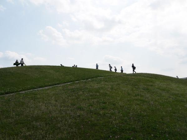 亀島さんがガリバー山と呼んでいた築山(多摩市鶴牧東公園)