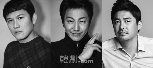(写真左から)3人組のオッケ(チンピラ)役のカン・ソンジン、キム・スロ、イム・チョリョン 写真提供:ASIA BRIDGE CONTENTS ©韓劇.com All rights reserved.