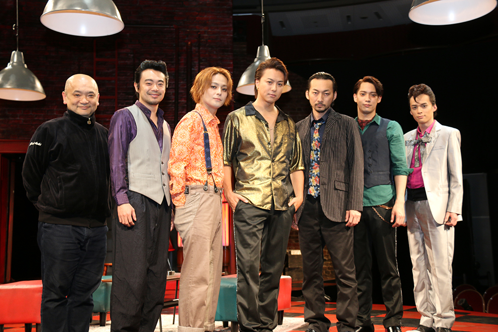 (左から)青木 豪、尾上寛之、木村 了、TAKAHIRO、波岡一喜、味方良介、横田龍儀