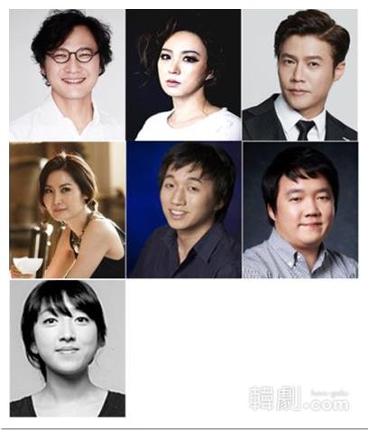 (写真上段左から)キム・テフン、ウ・ヒョンジュ、パク・ホサン(同中段左から)チョン・スヨン、イ・チャンフン、グ・ドギュン(同下段)イ・ウン