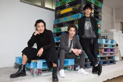 (左から)谷口賢志 安西慎太郎 松田凌