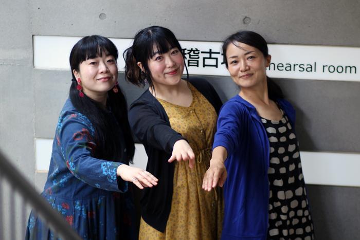 左から大西玲子、吉田小夏、福寿奈央