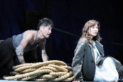 舞台『アンナ・クリスティ』初日前会見~佐藤隆太が大先輩の篠原涼子に「最初は恐縮しきりだった」と告白