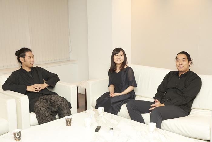 (左から)秋田勇魚、古海行子、笹沼 樹