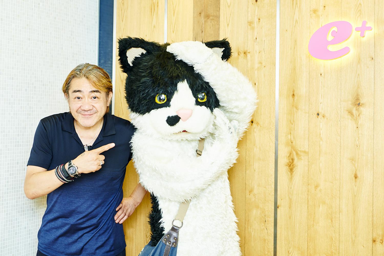 野村義男 / むぎ(猫)