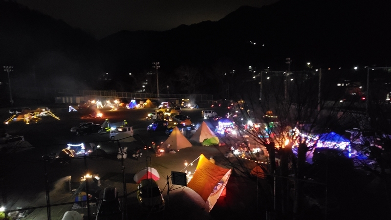 本栖高校校庭キャンプ
