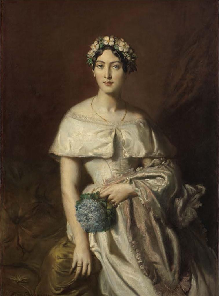 《カバリュス嬢の肖像》 テオドール・シャセリオー 1848年 カンベール美術館 Collection du musée des beaux-arts de Quimper