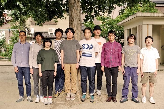 ヨーロッパ企画メンバー。西村直子(左から三番目)は、次回本公演はお休みする。