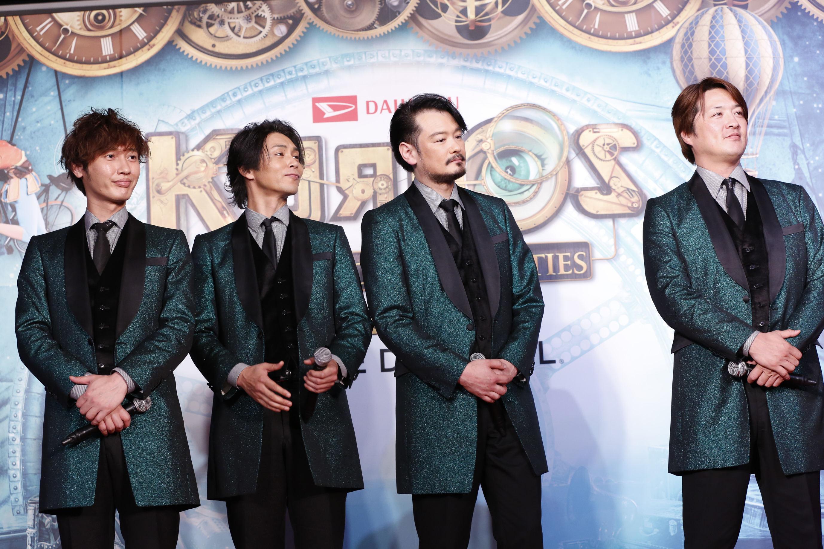 純烈(左から)後上翔太、白川裕二郎、小田井涼平、酒井一圭