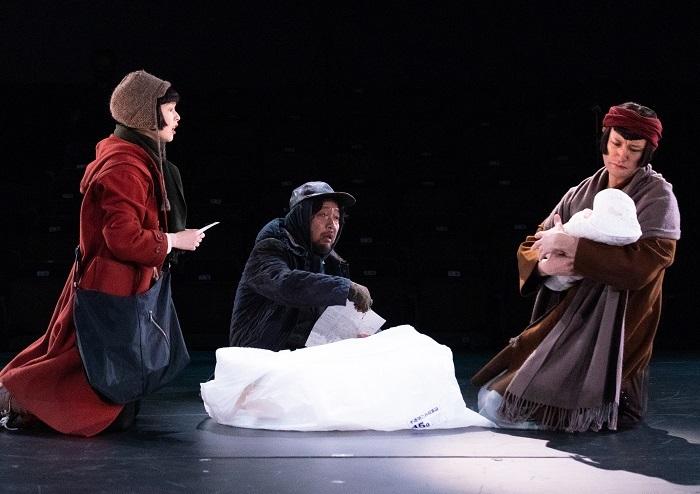 (右から)松岡昌宏、マキタスポーツ、夏子  撮影: 引地信彦