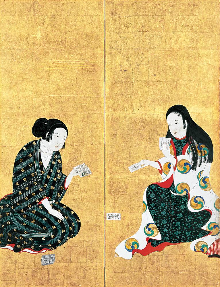 国宝 婦女遊楽図屛風(松浦屛風)  六曲一双のうち左隻(部分) 江戸時代 17世紀 大和文華館