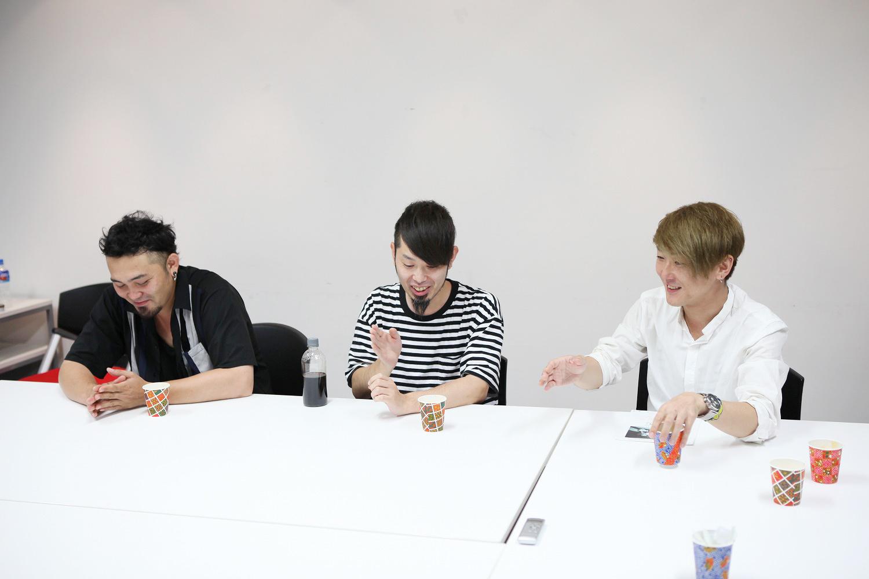 LACCO TOWER Dr.重田雅俊、Key.真一ジェット、Ba.塩崎啓示