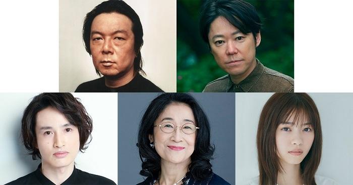 (上段左から))古田新太、阿部サダヲ(下段左から)浜中文一、木野花、西野七瀬