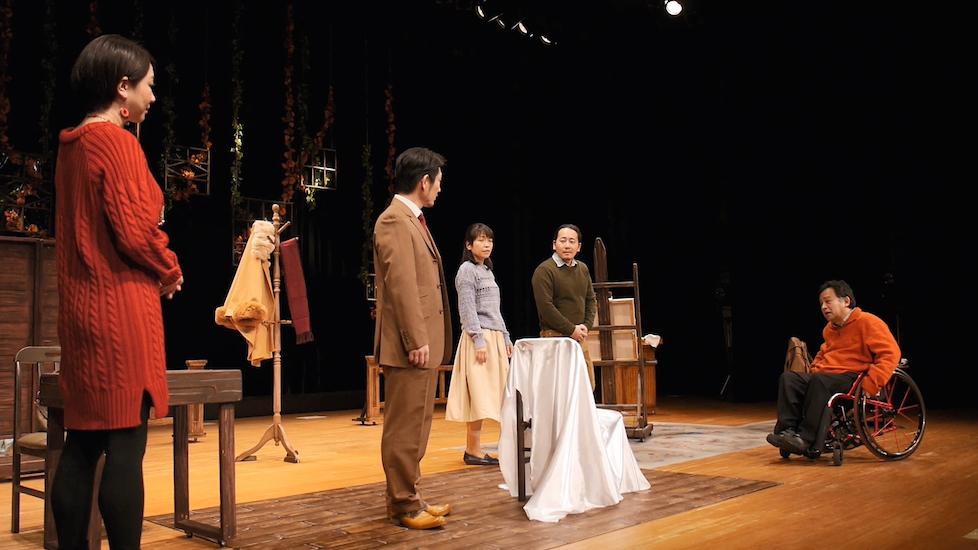 虚空旅団 第30回公演『アトリエのある背中』 2017年12月 「八尾市文化会館プリズムホール」初演より
