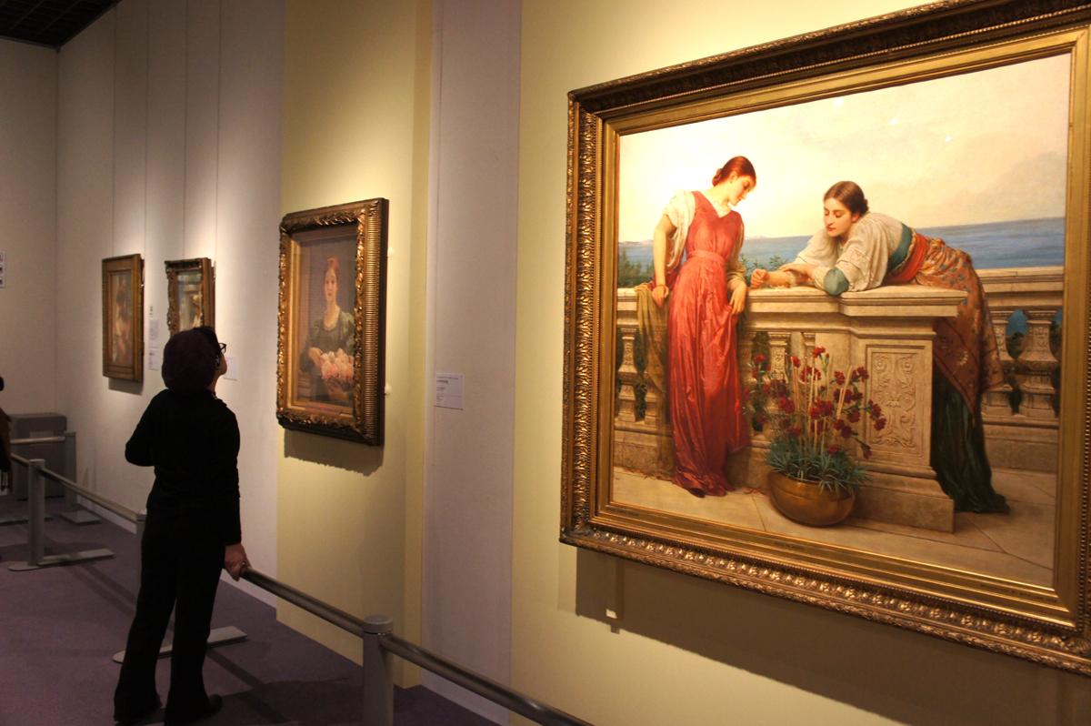 チャールズ・エドワード・ペルジーニ『ドルチェ・ファール・ニエンテ(甘美なる無為)』1882年に最初の出品 油彩・カンヴァス ©Courtesy National Museums Liverpool, Lady Lever Art Gallery