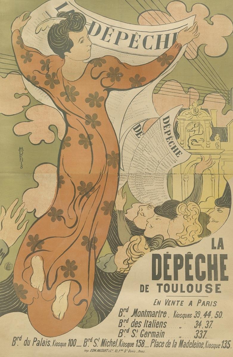 モーリス・ドニ《『ラ・デベッシュ・ド・トゥールーズ』紙のためのポスター》 1892年 多色刷りリトグラフ アムステルダム、ファン・ゴッホ美術館