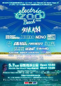 『Electric Zoo Beach Tokyo』最終発表に、BABY-T、DJ FUMIら全10組