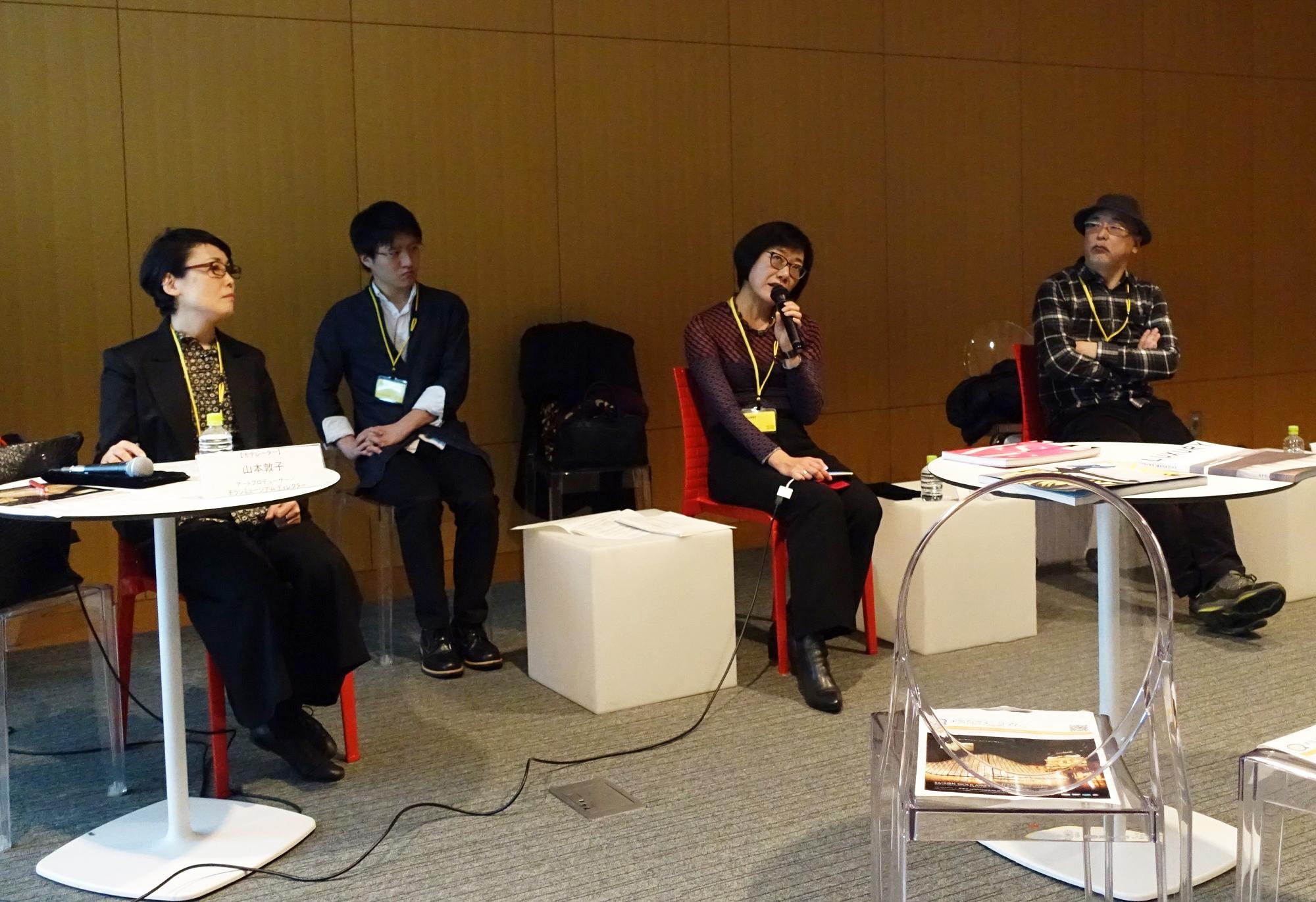 トークイベントの様子(写真左から山本敦子、帆足亜紀、佐藤直樹)