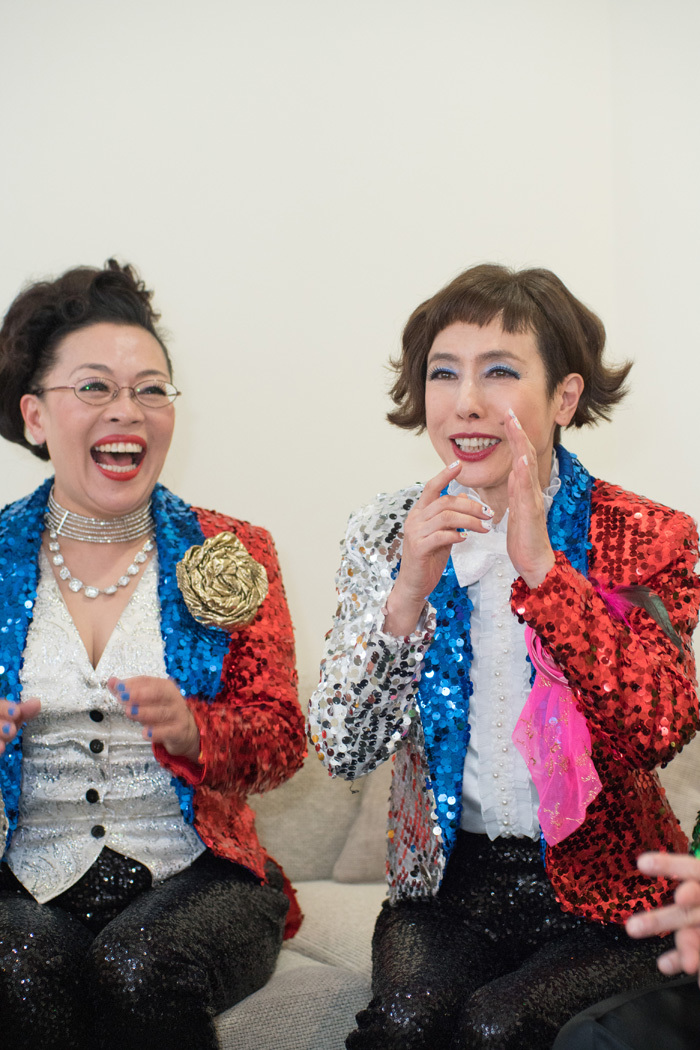 (左から)柴田理恵、久本雅美   撮影=横山将勝