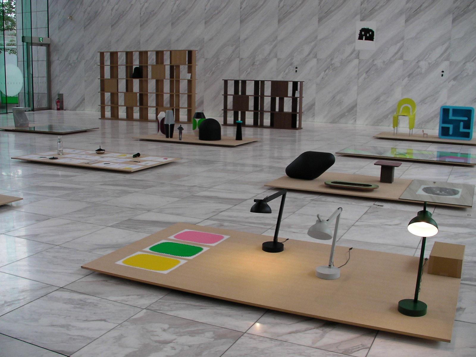 「デザイナート2017フィーチャー」に選出されたデザイナーのピエール・シャルパン個展「From the studio」。今回が東京初個展となる。 [map:30] @ワールド北青山ビル1階 エントランス
