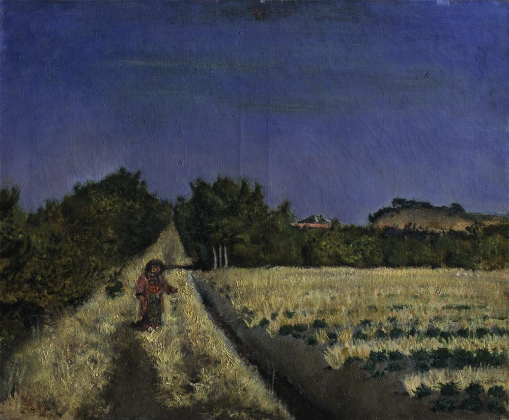 《麦二三寸》1920年3月16日 油彩・麻布 三重県立美術館蔵