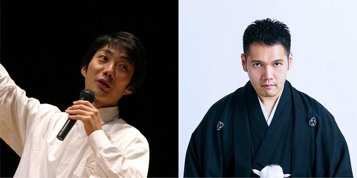 (左から)野村萬斎、六代目神田伯山