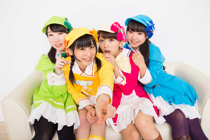 左から佐々木未来、徳井青空、三森すずこ、橘田いずみ