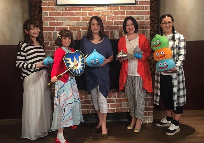 左から椿姫彩菜、千秋、金谷かほり、倉田真由美、白鳥久美子(たんぽぽ)