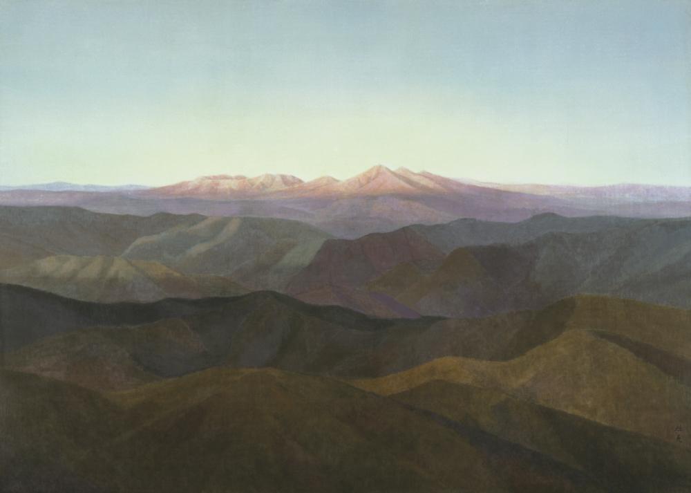 《残照》1947年、東山魁夷、東京国立近代美術館蔵
