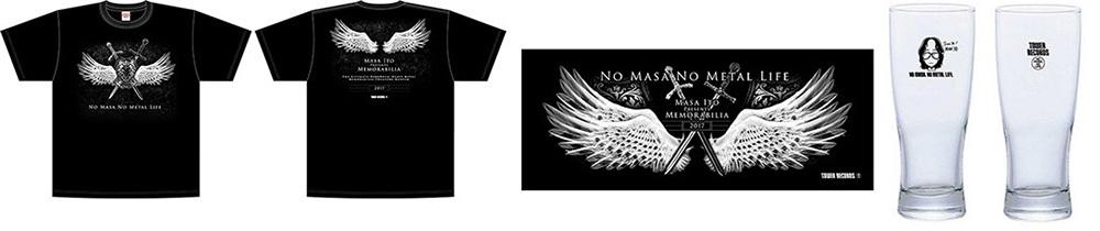 伊藤 政則 × TOWER RECORDS  T-shirt(FrontBack)、 フェイスタオル、 ビアグラス(FrontBack)