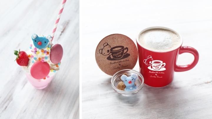 左:ペネロペのストロベリークリーム/右:ペネロペシュガーのミルクティ コースター付