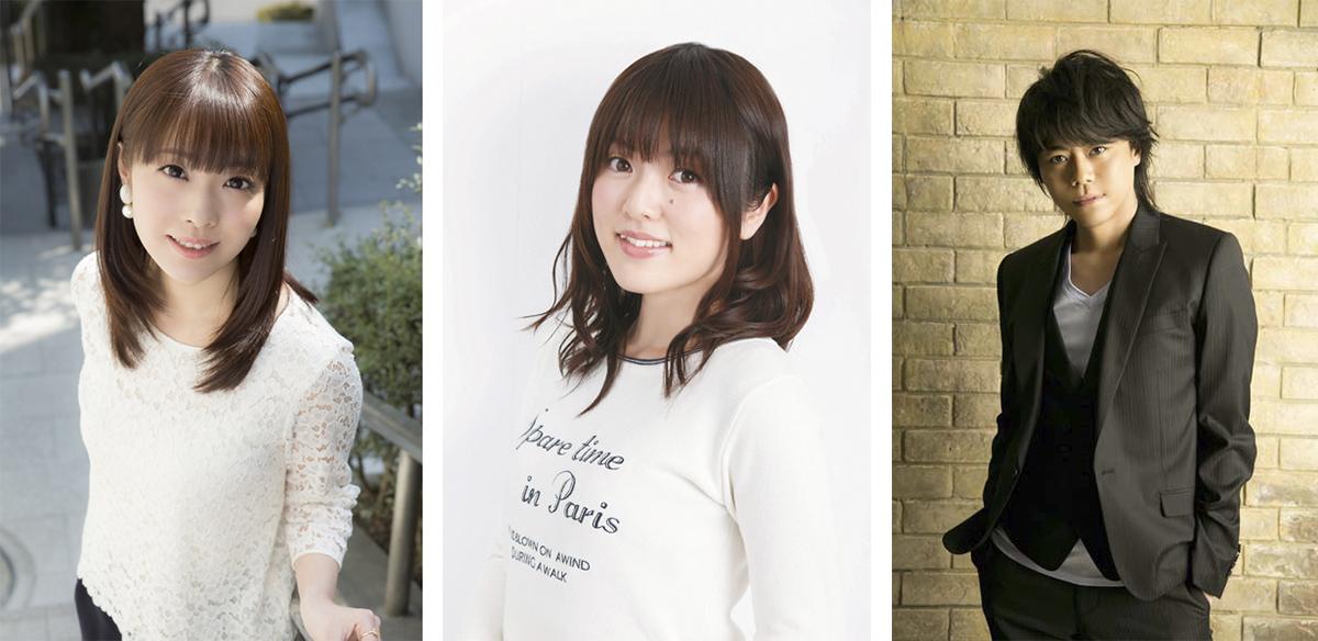 写真左から内山夕実、加隈亜衣、浪川大輔