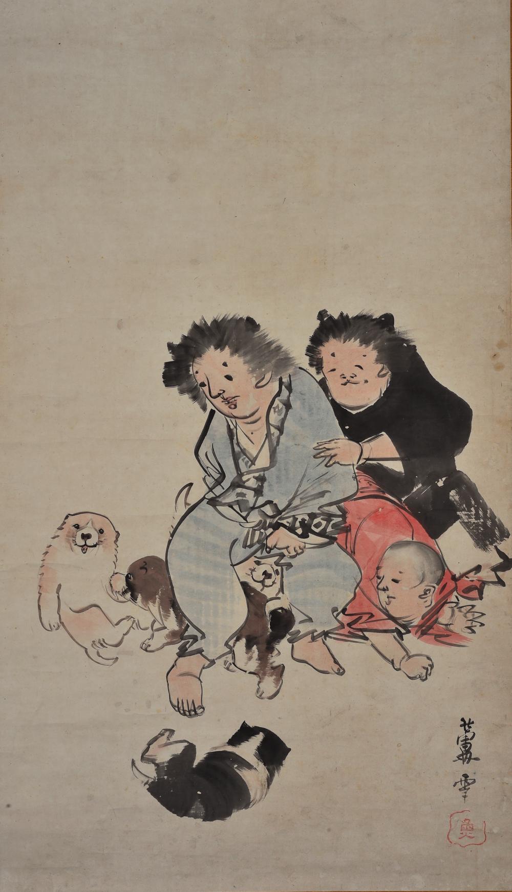 長澤蘆雪 《一笑図》(部分)同志社大学文化情報学部