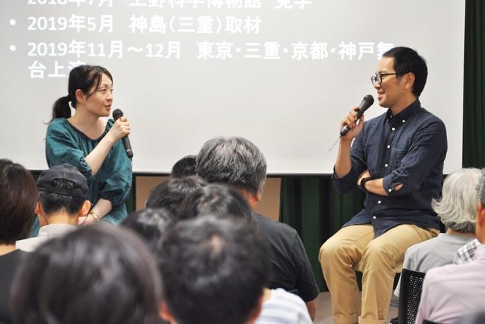 (左から)村田沙耶香、松井周。神戸市で開催された『変半身』プレトークイベントにて。