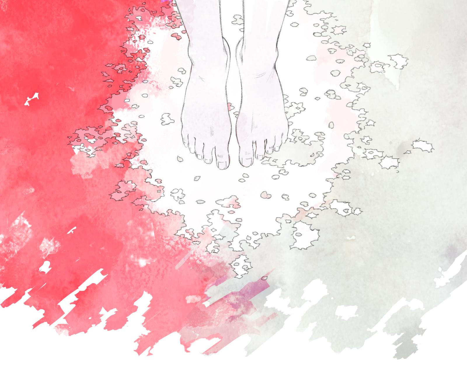 『月を歩いている』