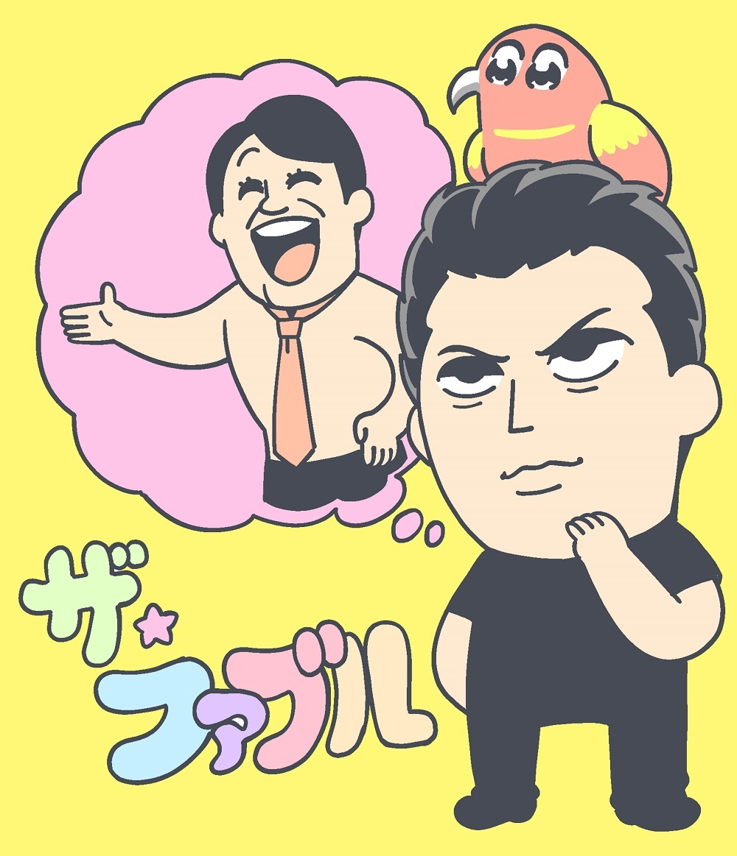 大川ぶくぶ氏による『ザ・ファブル』コラボイラスト (C)2019「ザ・ファブル」製作委員会
