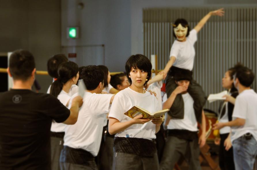 「東京キャラバン in 京都」の稽古に臨む松たか子。 [撮影]吉永美和子(このページすべて)
